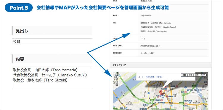 【地図付】「会社情報ページ」の生成機能を実装 - 簡単にかっこいい会社概要が作成できる