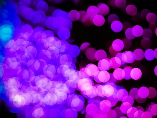 イルミネーションの光粒