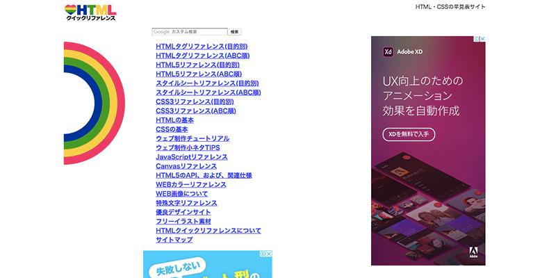 HTMLクイック・リファレンス
