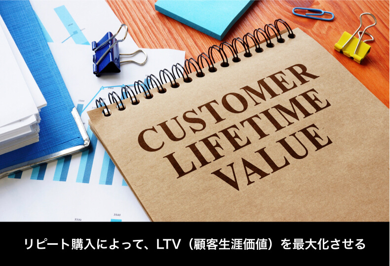 リピート購入でLTV(顧客生涯価値)を最大化させる