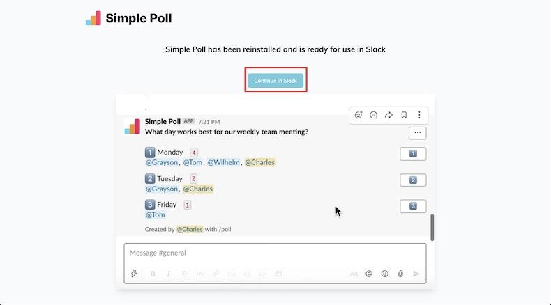 Slackと連携するボタン