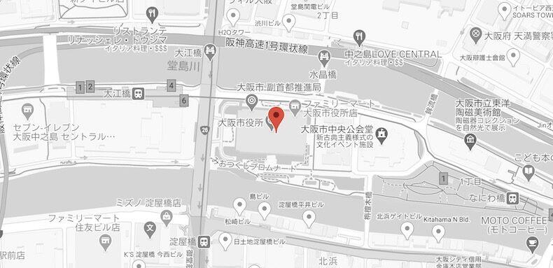 Googleマップのサンプル