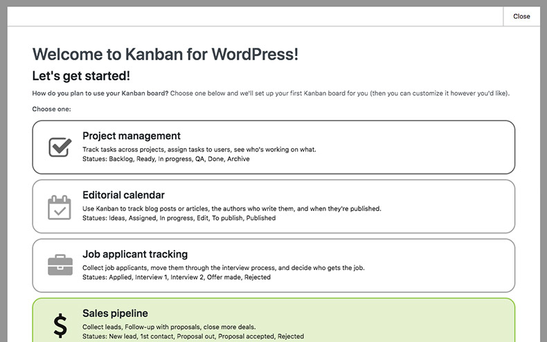 Welcome to Kanban