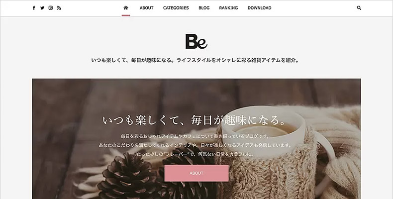 WordPress Theme Be