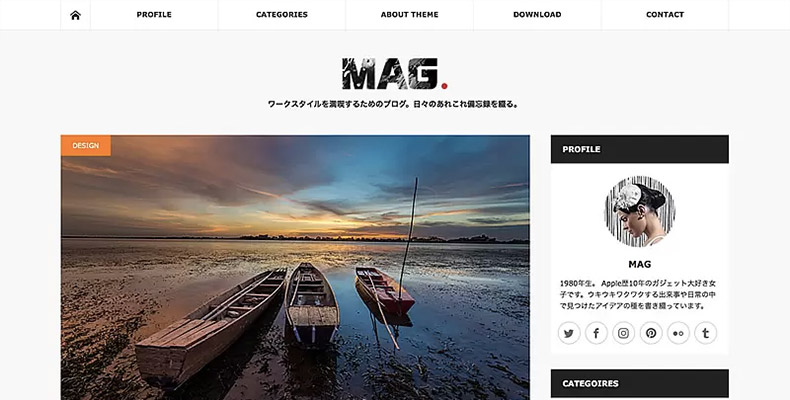 WordPress Theme MAG