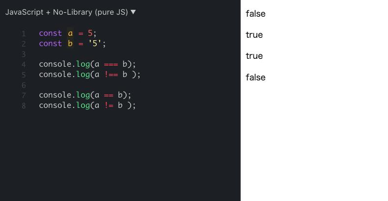 JavaScript operator
