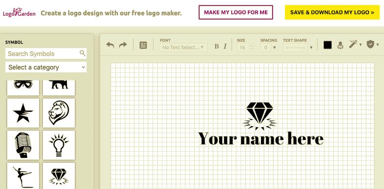 LogoGardenの編集画面