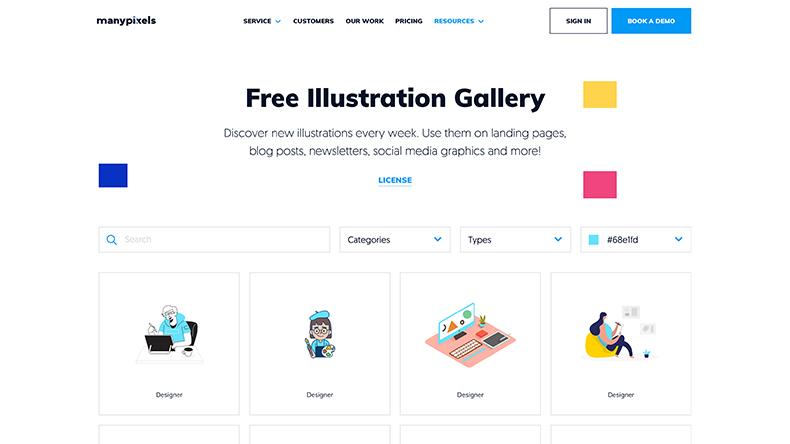 ManyPixels - Free Illustration Gallery