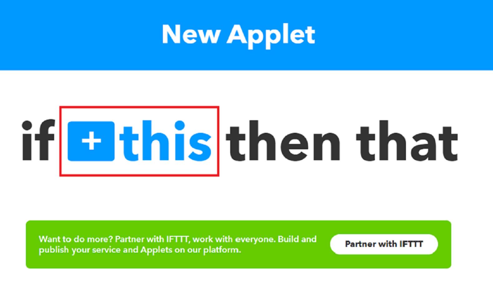 IFTTTレシピ作り方